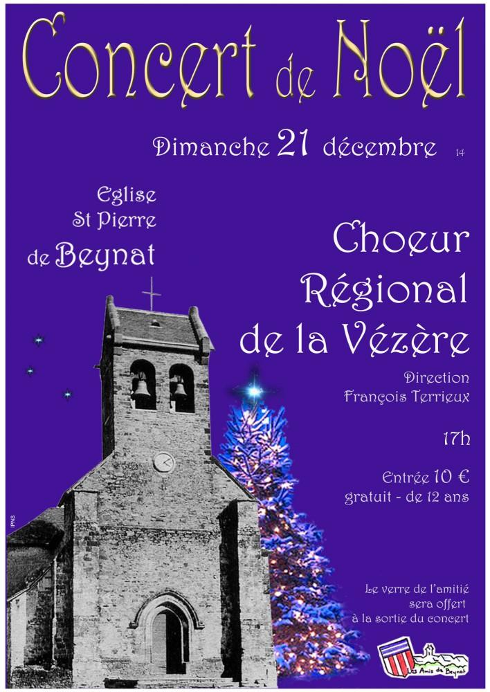 Affiche concert de Noël Beynat 2014
